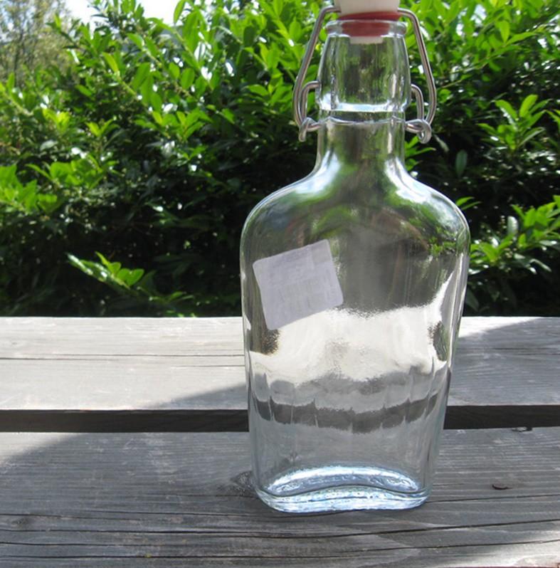 Üveg, csatos lapos 0,25 l