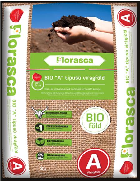Bio virágföld 'A' - Florasca 3 liter