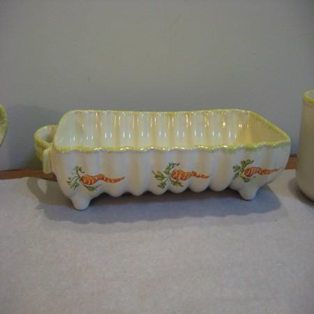 Kerámia, répa mintás sütőforma