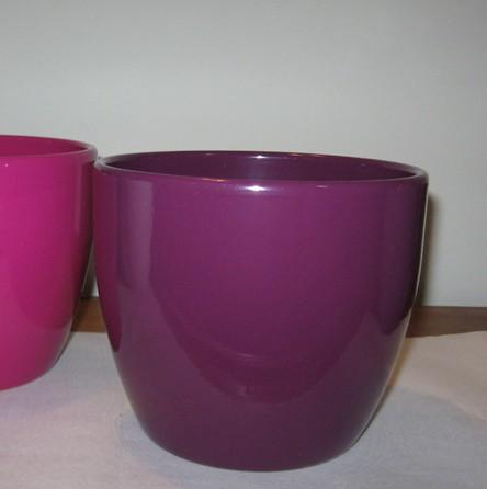 Kerámia kaspó - padlizsán-lila 15 cm
