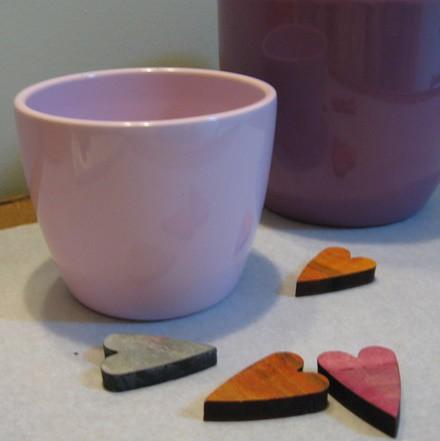 Kerámia kaspó - rózsaszín 11 cm