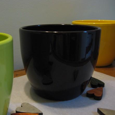 Kerámia kaspó - sötétlila 15 cm