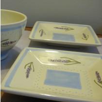 Levendula mintás kerámia tányér