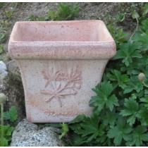 Mediterrán, fűszermintás rusztikus cserép 22 cm
