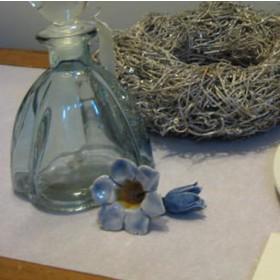 Kerámia virág, kék