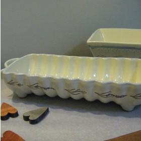 Levendula mintás kerámia sütőforma