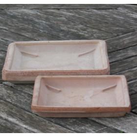 Cserép alátét rusztikus cseréphez, szögletes 20 cm