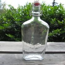 Üveg, csatos lapos 0,5 l