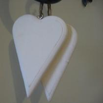 Festett szív, fehér