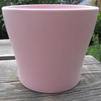 Rózsaszín matt kerámia kaspó