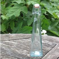 Üveg, szögletes csatos