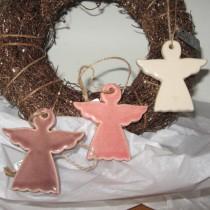 Kerámia angyal trió függeszthető