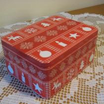 Süteményes doboz norvég mintás