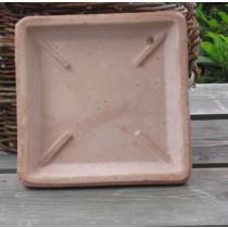 Cserép alátét rusztikus cseréphez, szögletes 16 cm
