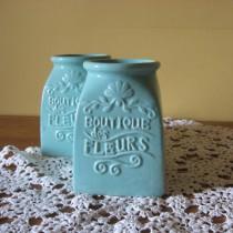 Váza türkizkék, kicsi